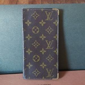 Authentic Louis Vuitton card holder checkbook